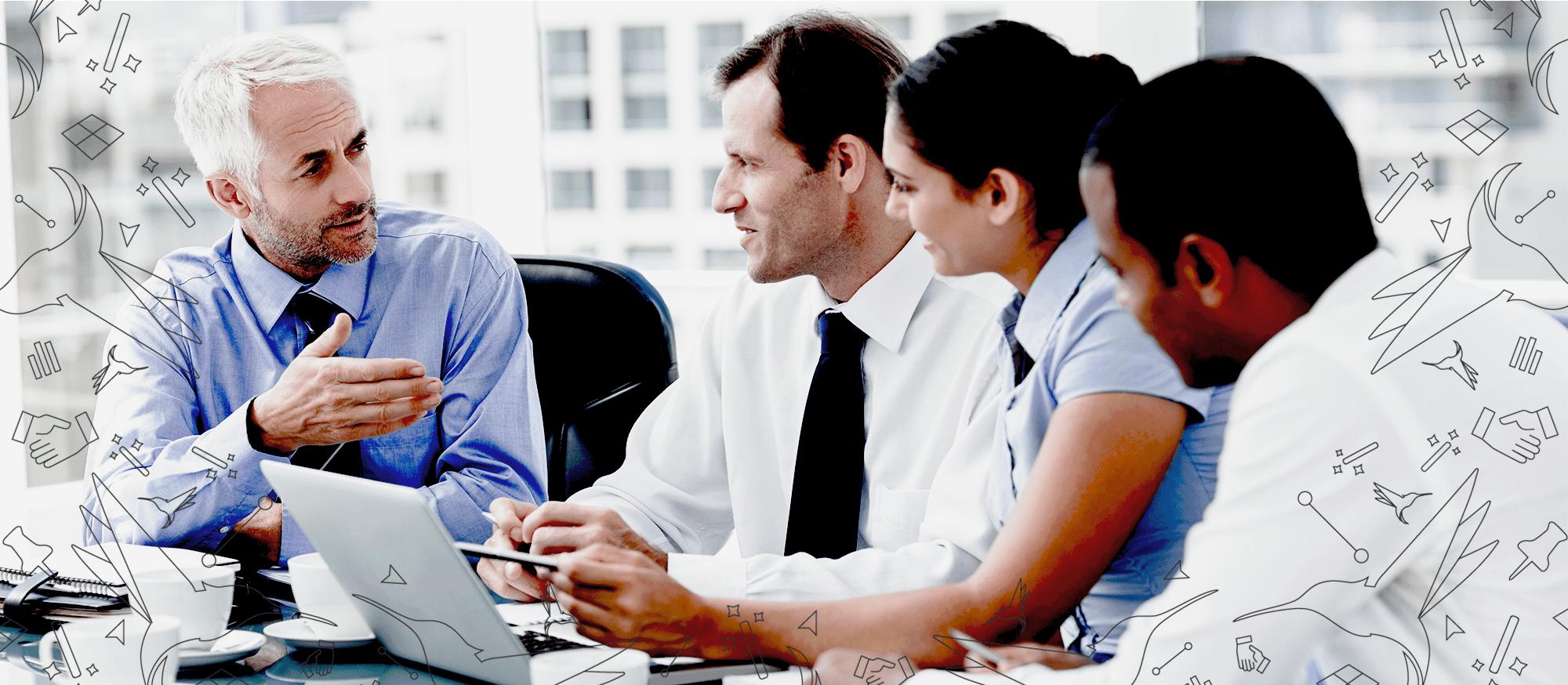 Adobe Skills – businessman having a meeting