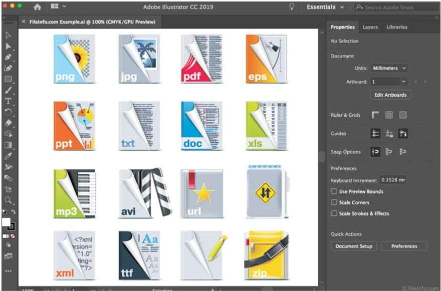 Screengrab of Adobe Illustrator interface